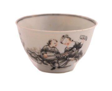 1318: Eighteenth-century Qianlong grisaille tea bowl