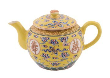 1349: Chinese Qing dynasty famille rose tea pot