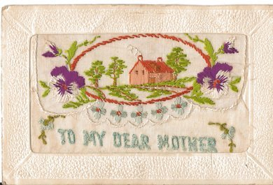 1184: Two WWI embroidered silk post cards