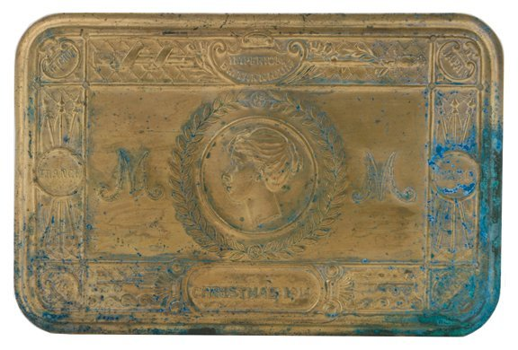 1186: 1914 Princess Mary WWI Christmass brass gift toba