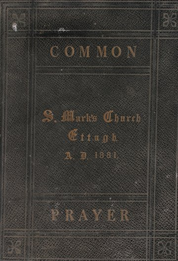 1188: Group of three books relating to St. Marks Church