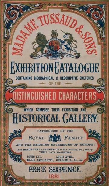 1196: Madame Tussaud and Sons program dated 1881