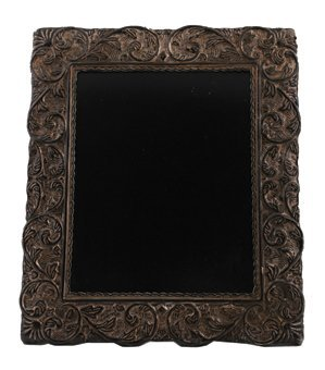 Large Victorian embossed silver photo frame