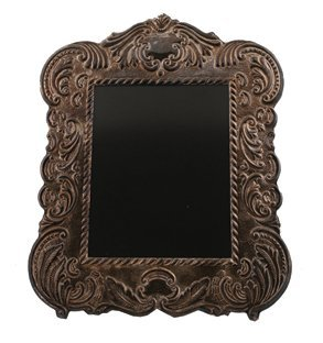 Large Victorian silver armorial photo frame