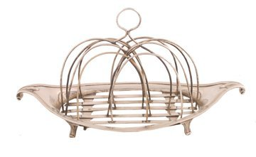 Silver boat shaped patent toast rack