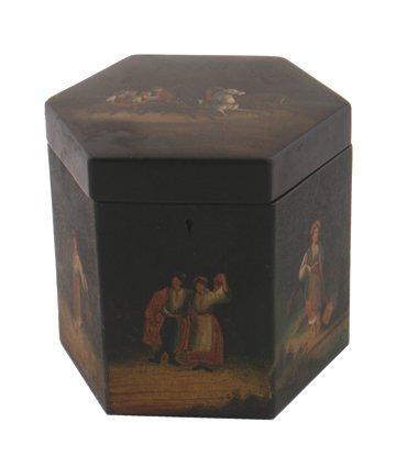 Nineteenth century Russian tea caddy