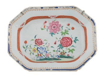 Chinese late Eighteenth century famille rose platter