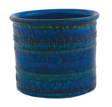 Nineteenth century turquoise glazed brush pot