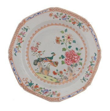 Two Eighteenth century Chinese famille rose plates