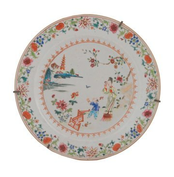 Eighteenth century Chinese famille rose plate