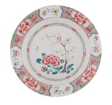 Eighteenth century Chinese famille rose floral enamelle
