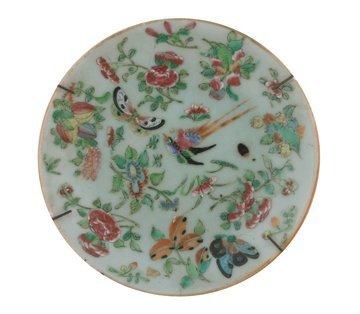 Eighteenth century celadon polychrome plate