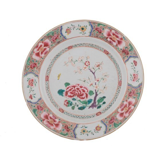 Large Eighteenth century Chinese famille rose charger