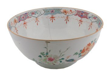 Large Eighteenth century Chinese famille rose bowl