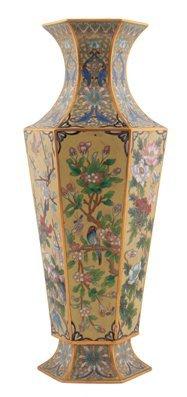 Early twentieth-century Chinese cloisonné enamelled vas