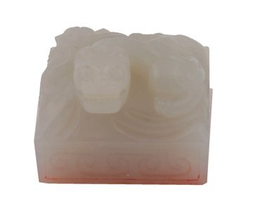 Chinese Qing Dynasty white jade seal