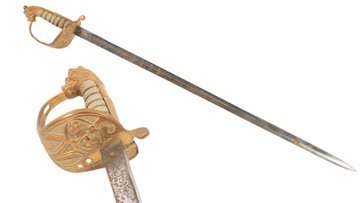 Nineteenth-century naval officer's sword