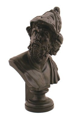 Nineteenth-century bronze classical bust of a Roman