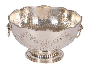 Large Sheffield silver plated punch bowl