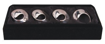 Set of four silver plated napkin rings