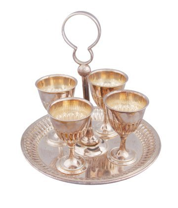 Silver plated egg epergne