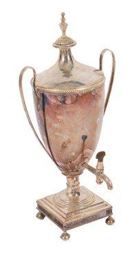 Large Sheffield plated tea urn
