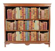 Edwardian period mahogany and satinwood inlaid open boo