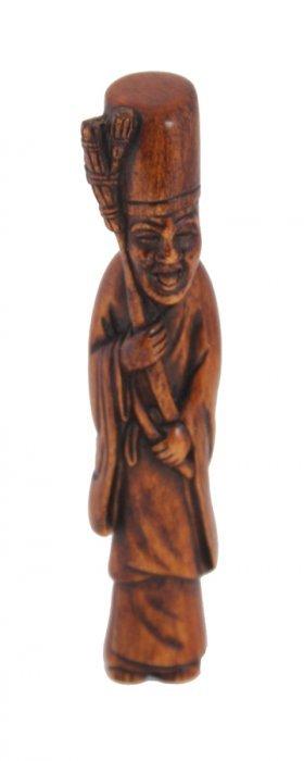 Japanese boxwood netsuke of an immortal