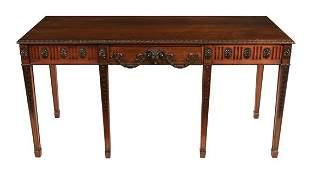 Late nineteenth-century mahogany Adam style hall table
