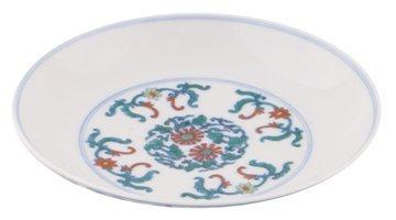Chinese polychrome saucer dish