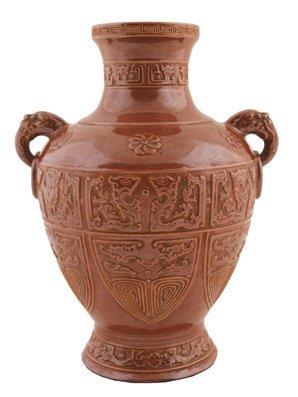 Chinese golden brown vase