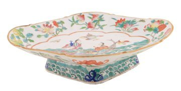 Chinese Qing period polychrome dish