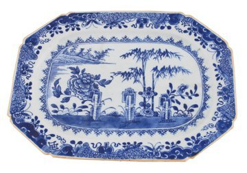 Chinese Qing period blue and white platter