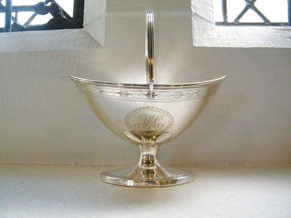 George III silver sugar bowl