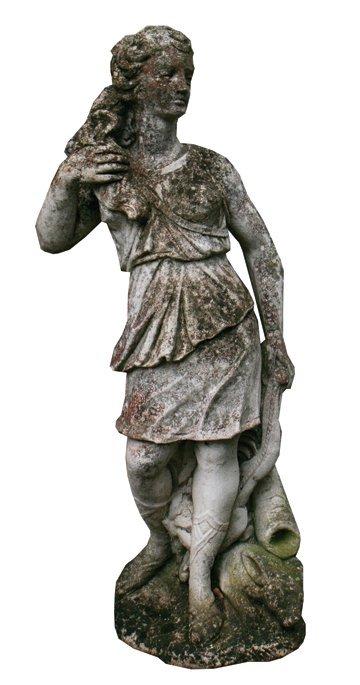 Early twentieth-century reconstituted stone figure of