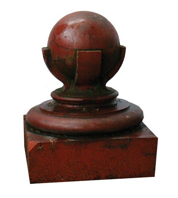 Pair of nineteenth-century terracotta pier caps