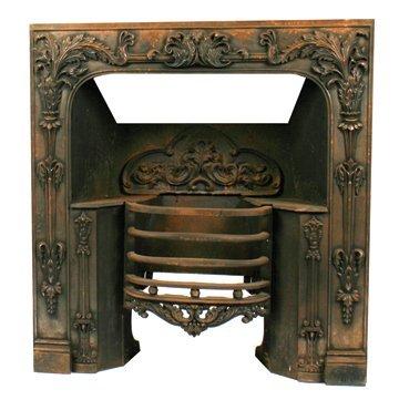 William IV period cast iron fire basket