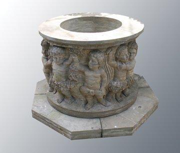 Italianate stone well head ,
