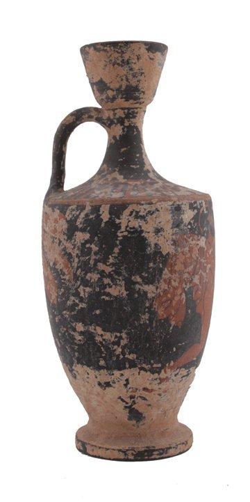 Ancient Greek red attic ware Lekythos,