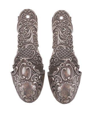 Pair of Continental silver wall pockets,