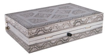 Indian silver jewellery box,