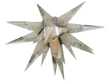 Art Deco Weinstein frosted glass star-burst chandelier,