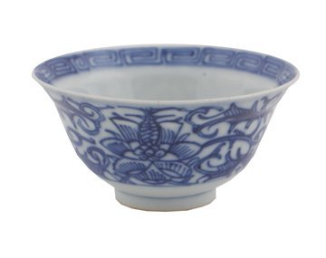 Chinese Qing period blue and white bowl
