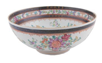 Chinese Qing period famille rose bowl