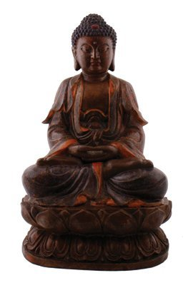 Large Chinese Qing period bronze Buddha,