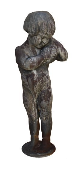 Nineteenth-century lead  figure of a young boy