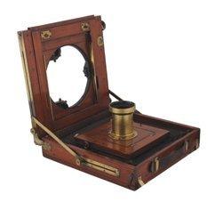 Nineteenth-century mahohany and brass bound camera,