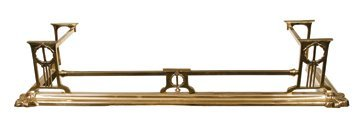 Edwardian period brass fire fender