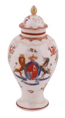 Nineteenth-century Sampson famille rose armorial vase