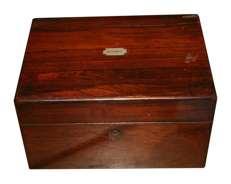 Regency period rosewood box